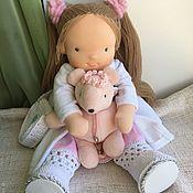 Куклы и игрушки handmade. Livemaster - original item Lime - Waldorf doll. Handmade.
