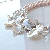 Украшения handmade. Livemaster - original item MY TENDERNESS...two-row necklace of pearls. Handmade.