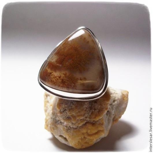 """Кольца ручной работы. Ярмарка Мастеров - ручная работа. Купить Кольцо """"Песок"""" с дендроагатом. Handmade. Коричневый, кольцо с камнем"""