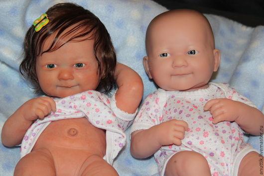 Куклы-младенцы и reborn ручной работы. Ярмарка Мастеров - ручная работа. Купить Лялечки(улыбашки) 6,7. Handmade. Бежевый