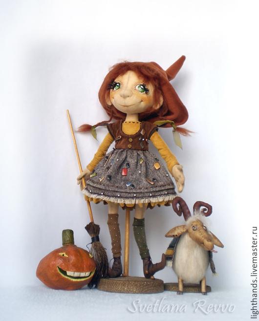 Коллекционные куклы ручной работы. Ярмарка Мастеров - ручная работа. Купить Маленькая ведьма Сабрина. Коллекционная кукла. Handmade. Кукла