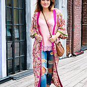Одежда ручной работы. Ярмарка Мастеров - ручная работа Накидка-кимоно с вышивкой. Handmade.