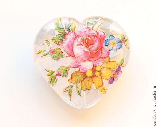 Для украшений ручной работы. Ярмарка Мастеров - ручная работа. Купить Бусина Тенша сердце (арт. 919). Handmade.