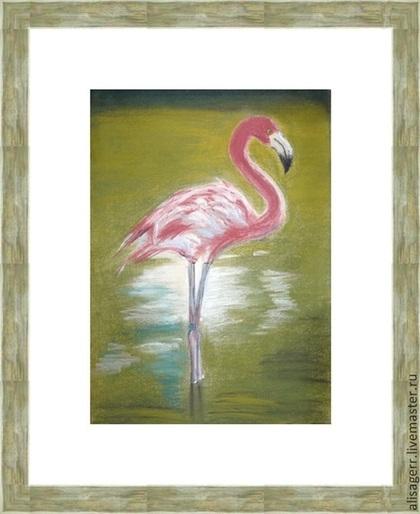 Животные ручной работы. Ярмарка Мастеров - ручная работа Фламинго. Handmade.