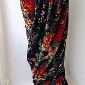 Одежда ручной работы. Ярмарка Мастеров - ручная работа Юбка макси с крупными цветами. Handmade.
