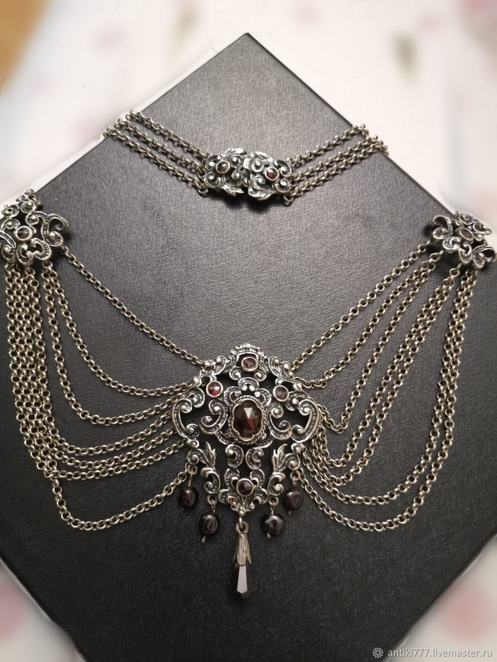 Antique silver necklace from Austria-Hungary, Vintage necklace, Moscow,  Фото №1