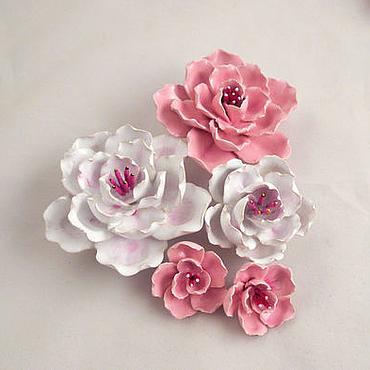 Для дома и интерьера ручной работы. Ярмарка Мастеров - ручная работа Сакура - керамические цветы для интерьера. Handmade.