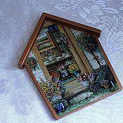 """Для дома и интерьера ручной работы. Ярмарка Мастеров - ручная работа Ключница""""Цветочный домик""""(варианты). Handmade."""