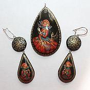 Украшения handmade. Livemaster - original item set of women`s jewelry as art painting