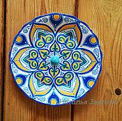 Посуда handmade. Livemaster - original item The interior plate, wall Summer. Hand-painted.Gifts for women. Handmade.