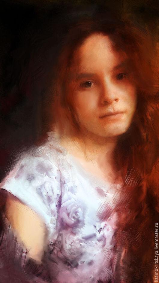 Люди, ручной работы. Ярмарка Мастеров - ручная работа. Купить Портрет маслом по фото. Картина маслом. Портрет девушки акварель. Ню. Handmade.