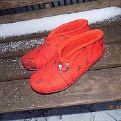 """Обувь ручной работы. Ярмарка Мастеров - ручная работа Тапочки """"Оранж"""". Handmade."""