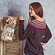 Свитер женский вязаный `Фрида` Фотограф: Евгения Кузьмина Модель: Марина Аникина