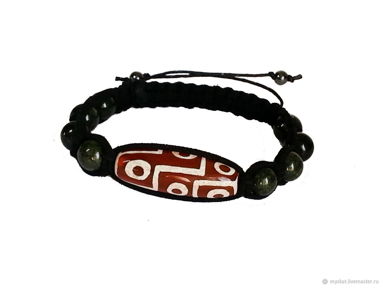 Shamballa bracelet with Dzi 9 eye Coil in the skin, Rosary bracelet, Moscow,  Фото №1