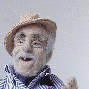 Куклы и игрушки handmade. Livemaster - original item Interior doll is made of wool. Grandpa number №2. Handmade.