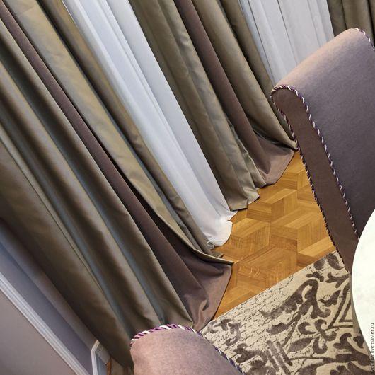 Текстиль, ковры ручной работы. Ярмарка Мастеров - ручная работа. Купить Шторы. Handmade. Бледно-сиреневый, стиль, текстиль для дома