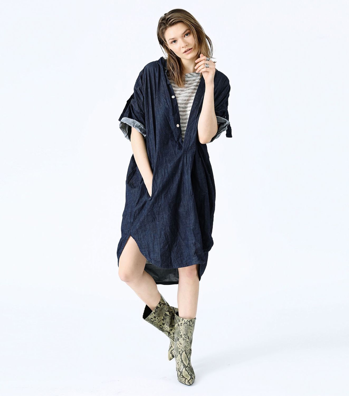 Платья ручной работы. Ярмарка Мастеров - ручная работа. Купить Платье - рубашка из мятой джинсы. Handmade. Платья, платья для беременных
