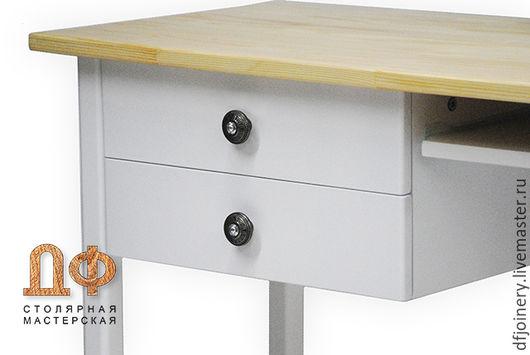 Мебель ручной работы. Ярмарка Мастеров - ручная работа. Купить Письменный стол «Белый» из дерева. Handmade. Письменный стол, купить