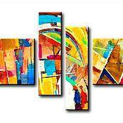 Картины и панно ручной работы. Ярмарка Мастеров - ручная работа Радуга. Абстракция. Handmade.