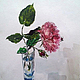 Картины цветов ручной работы. Ярмарка Мастеров - ручная работа. Купить чайная роза в рюмке для текилы. Handmade. Роза