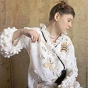 """Одежда ручной работы. Ярмарка Мастеров - ручная работа Жакет """"Белая Королева"""". Handmade."""