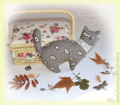 Игрушки животные, ручной работы. Ярмарка Мастеров - ручная работа Котик,текстильная игрушка, мягкая игрушка кот. Handmade.
