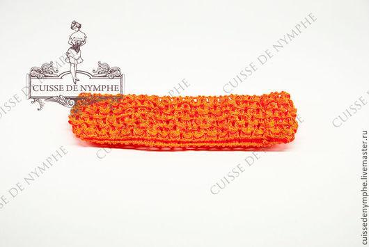 Шитье ручной работы. Ярмарка Мастеров - ручная работа. Купить Повязка на голову, тёмно-оранжевый неон, 6034. Handmade. Топ