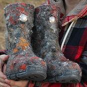 """Обувь ручной работы. Ярмарка Мастеров - ручная работа Валенки """"Серебряные кудри"""". Handmade."""