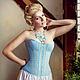 Утягивающий корсет «Сверкающий гиацинт»  торговой марки `Корсет-City` дизайнер Елена Кучерявенко