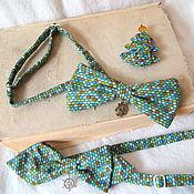 Аксессуары ручной работы. Ярмарка Мастеров - ручная работа галстук - бабочка Мозаика. Handmade.