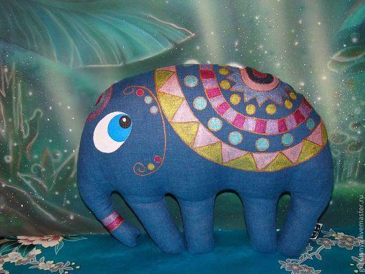"""Игрушки животные, ручной работы. Ярмарка Мастеров - ручная работа. Купить Текстильная игрушка-подушка слон """"Максимилианус"""". Handmade. Слон"""