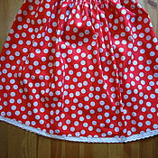 Работы для детей, handmade. Livemaster - original item skirt for girls polka dot american cotton muhomorchikom. Handmade.