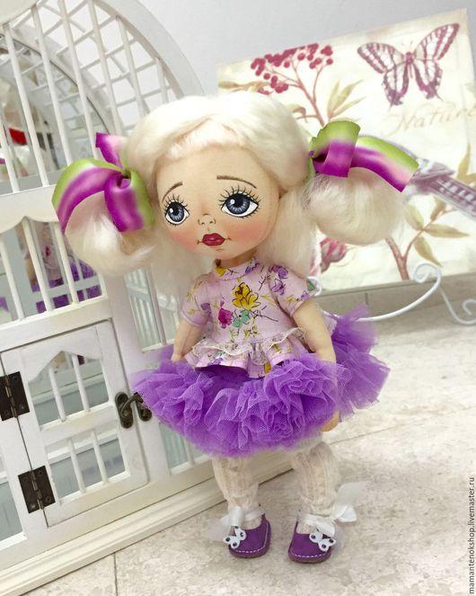 Коллекционные куклы ручной работы. Ярмарка Мастеров - ручная работа. Купить Оливия! Текстильная кукла. Handmade. Бледно-сиреневый