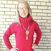 Одежда ручной работы. Ярмарка Мастеров - ручная работа Туника цвета бордо. Handmade.