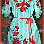"""Работы для детей, handmade. Livemaster - original item Платье для девочки """"Маки"""". Handmade."""