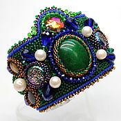 Украшения handmade. Livemaster - original item Bracelet embroidery of natural stones and beads Princess of the East. Handmade.