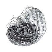 Аксессуары ручной работы. Ярмарка Мастеров - ручная работа Шелковое парео оттенка Графитовый серый. Handmade.