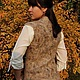 Felted vest 'Wild' Klimkin Galina, Vests, Losino-Petrovsky,  Фото №1
