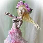 """Куклы и игрушки ручной работы. Ярмарка Мастеров - ручная работа Авторская кукла """"Весеннее соло для скрипки"""". Handmade."""