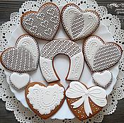 Сувениры и подарки ручной работы. Ярмарка Мастеров - ручная работа Свадебный ажурный набор пряников. Handmade.