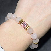 Украшения handmade. Livemaster - original item Elegant bracelet made of natural rose quartz. Handmade.