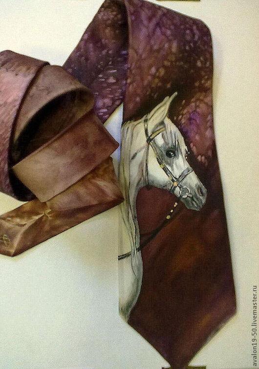 """Галстуки, бабочки ручной работы. Ярмарка Мастеров - ручная работа. Купить Галстук """"Арабский скакун"""". Handmade. Лошадь, символ года"""