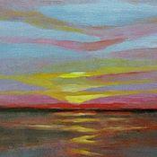 Картины и панно handmade. Livemaster - original item Sunset stripe crimson pales in Dali. Handmade.