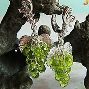 Украшения handmade. Livemaster - original item chrysolite. Earrings