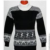 Одежда handmade. Livemaster - original item Sweater with a Norwegian ornament Winter fun. Handmade.