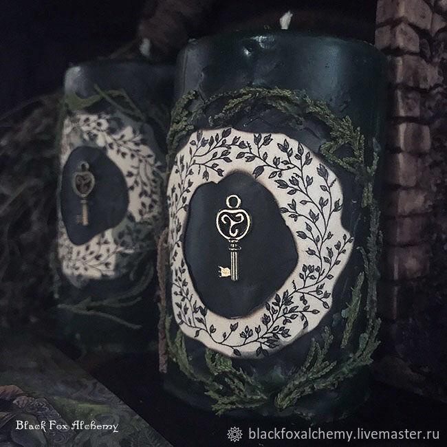 "Свеча-программа ""Чары Темного Леса"", Ритуальная свеча, Москва,  Фото №1"
