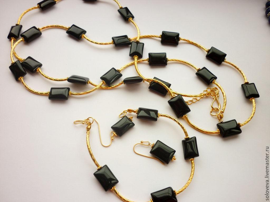 часы браслет черный с золотом