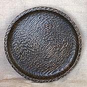 Для дома и интерьера ручной работы. Ярмарка Мастеров - ручная работа Большая тарелка с ручной резьбой диаметр 30 см. Handmade.