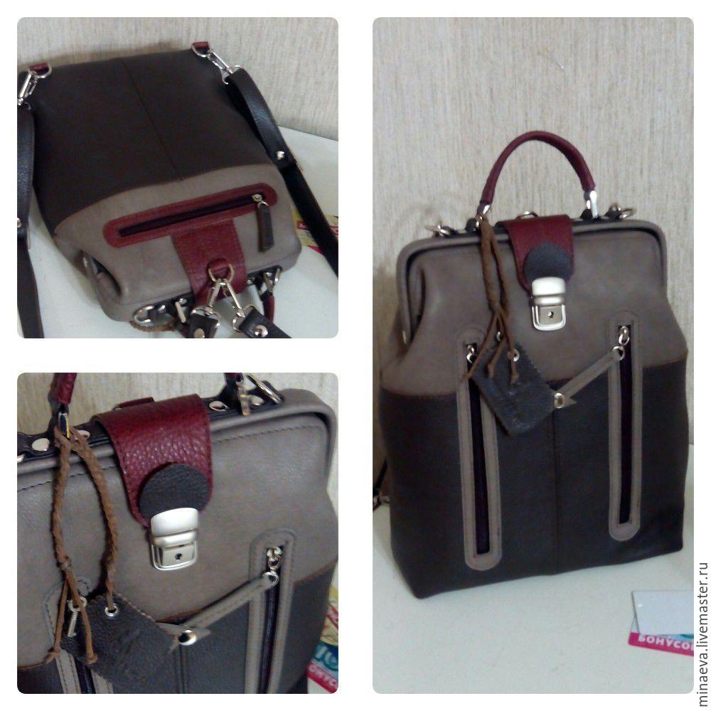 Сумка-рюкзак-портфель в винтажной коже, Женские сумки, Иркутск, Фото №1
