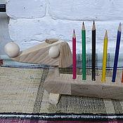 Канцелярские товары ручной работы. Ярмарка Мастеров - ручная работа Такса-карандашница. Handmade.
